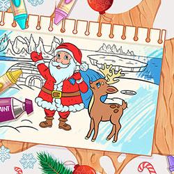 Karácsonyi színező mobilra
