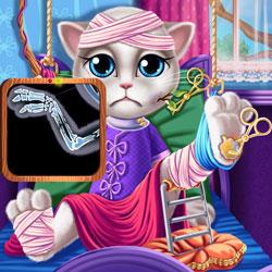 لعبة علاج القطة كيتي في المستشفي
